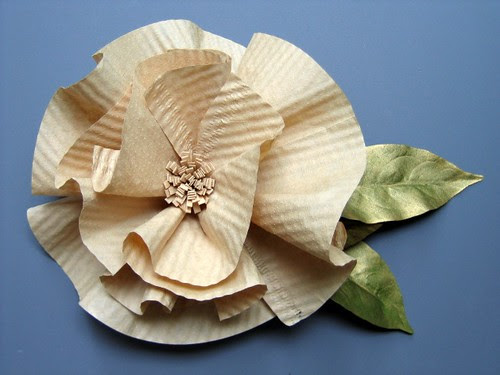 Coffee Filter Flower Gift Topper Tutorial