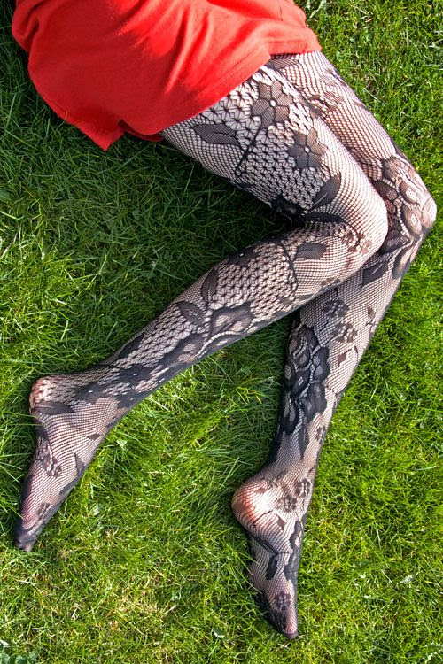 Floral Bloom Lace Tights