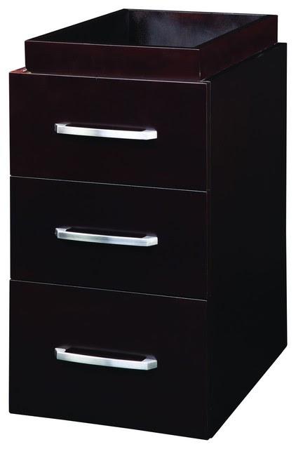 Decolav 5225-ESP Cameron Drawer Console Cabinet in Espresso ...