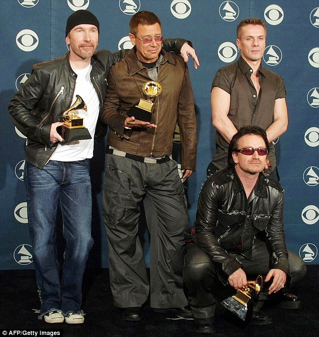 Still going strong: U2, who first formed back in 1976, are currently working on their thirteenth studio album