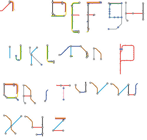 Tube Alphabet by Jon Justice & friend
