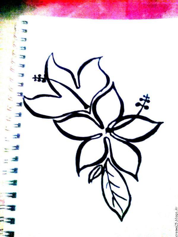 Fleur Dessin Facile Rose