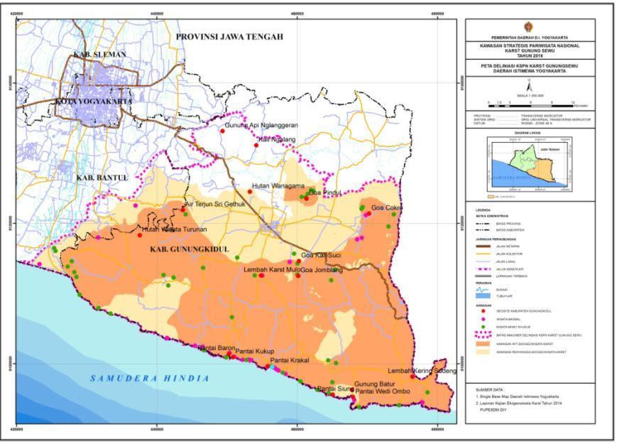 Peta Lokasi Wisata Di Yogyakarta - Area Wisata Asia