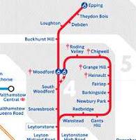 The Hainault Loop showing Zones