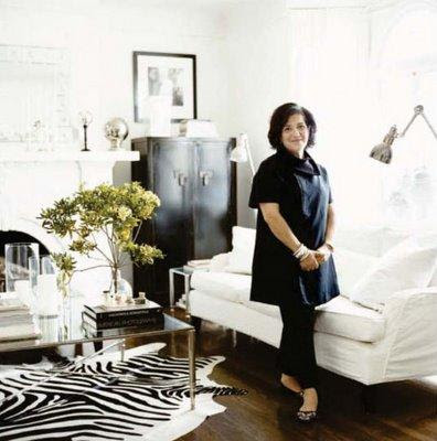 malegni: william sonoma  zebra cowhide rug, mirrored french coffee table, white slipcovered sofa ...
