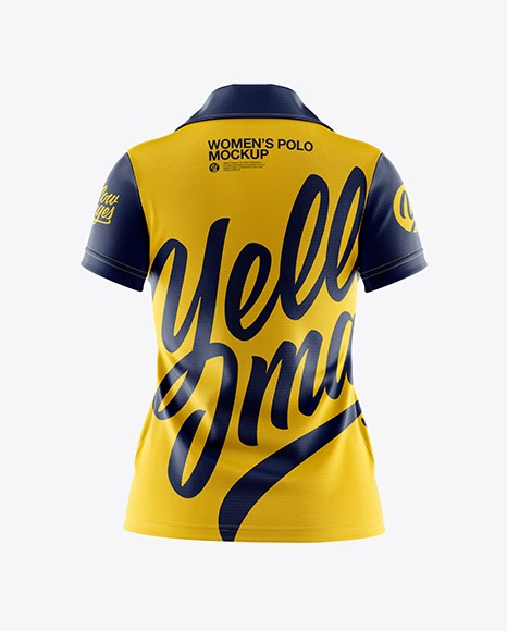 Download Womens Polo Back View Jersey Mockup PSD File 109.01 MB ...