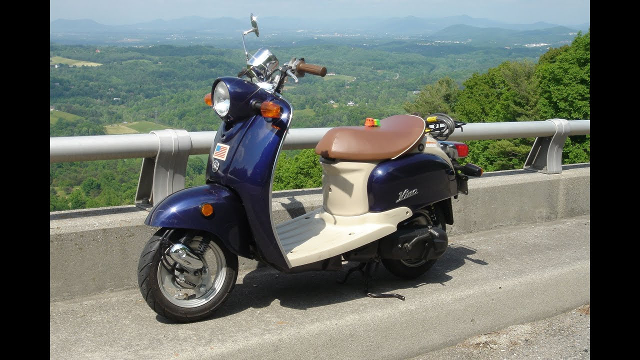 10 000 Miles on the Yamaha  Vino  time machine Scooter
