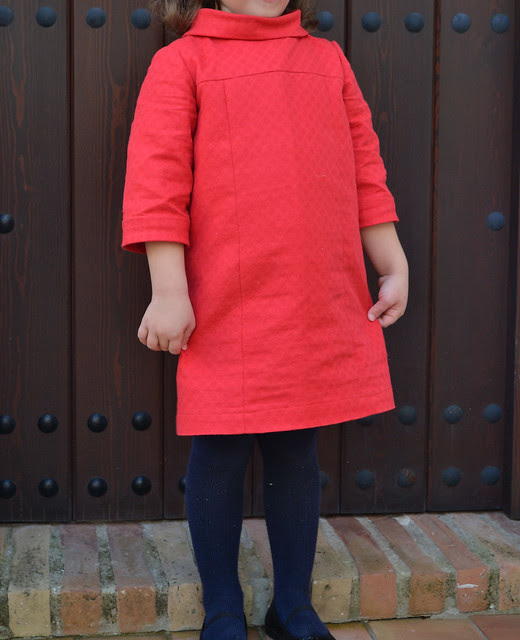 school photo dress in cotton pique