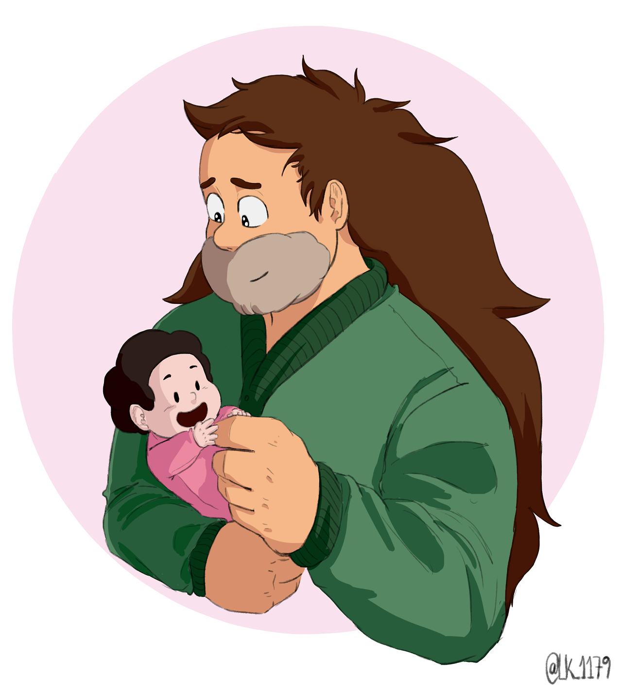 "Day 8 of ""SU 30 DAY ART MEME"" #08 Favorite SU parent. Greg is the best ;__;"