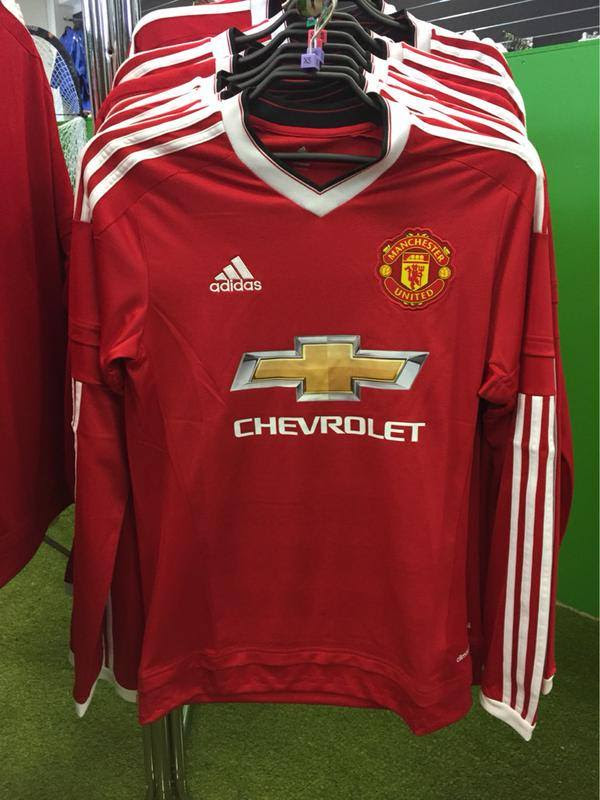 5d06a6a9d Manchester United Home Long Sleeve Shirt Jersey Adidas 2015 2016. Chevrolet  Logo Discussion Manchester United Kits 201516 Page 33