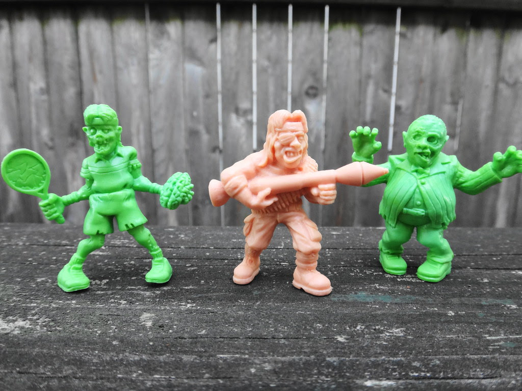 SLUG zombies series 2 Andrew Agony, Captain Payback, Teddy Terror