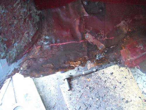Rust around the lower subframe mount
