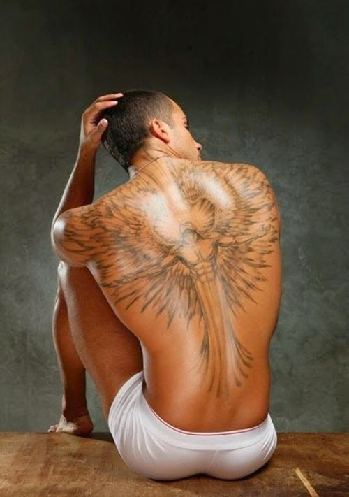 Strong Men Back Wings Tattoo Tattoomagz