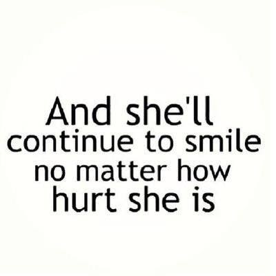 smile through the pain.. believe it or not.... a simple smile can ...
