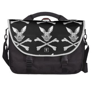 bunny cross bones bag for laptop