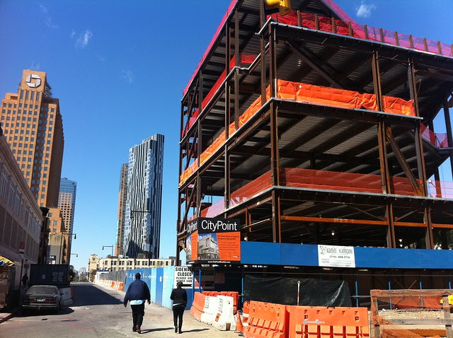 City Point, Fulton Street, under construction