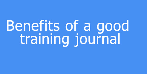 Benefits of a good training journal