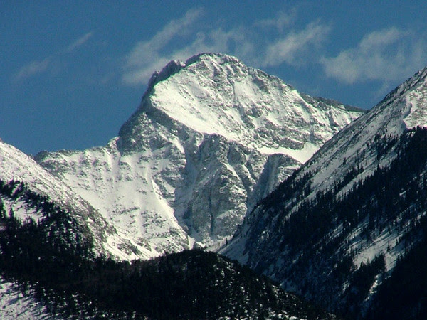 Ellingwood Point (14,042 feet, ranked 42) from the west; Sangre de Cristo Mountains, Colorado