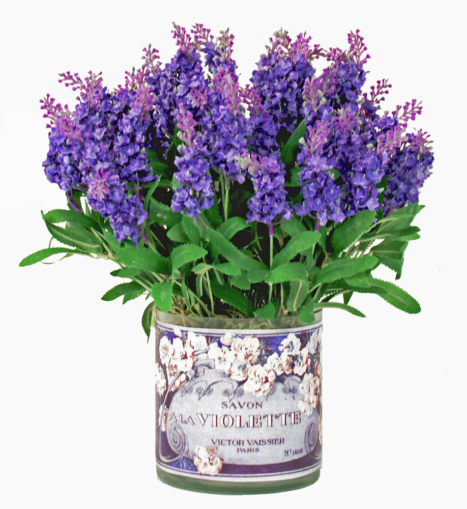 FLOWER ARRANGEMENTS  PROVENCE LAVENDER BOUQUET  SILK FLORAL ARRANGEMENT  eBay