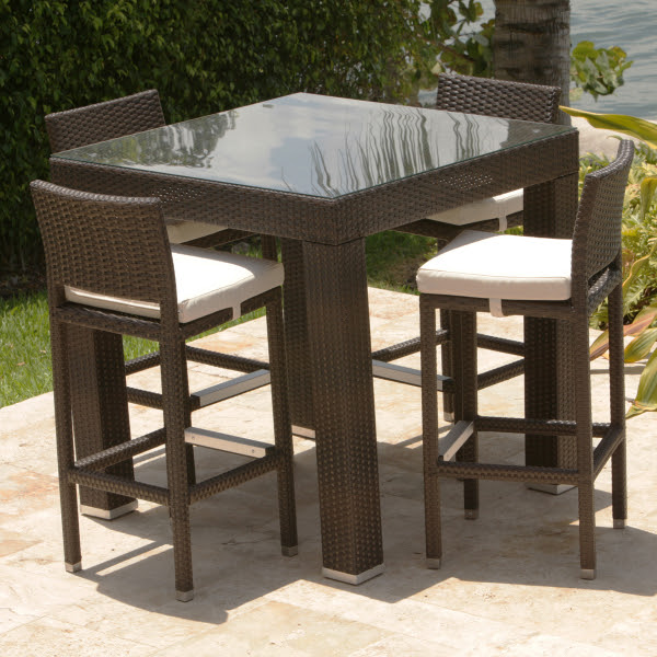 Dumont 5 Piece All Weather Bar Height Dining Set by ...