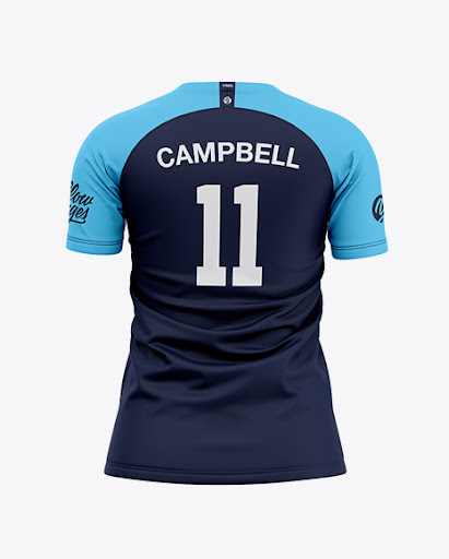 Download Womens Soccer Jersey Back View Jersey Mockup PSD File 156 ...