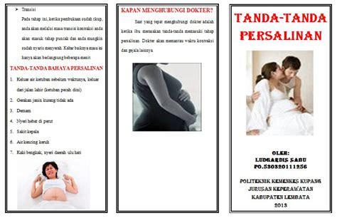 leaflet tanda tanda persalinan