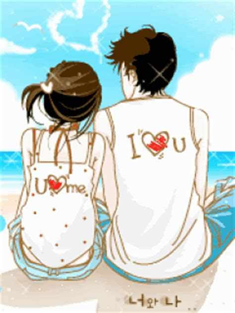 gambar animasi korea  love  anime cinta sejati couple