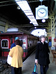 Passengers at Queenstown station