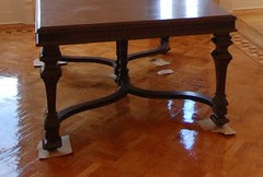 Dining Table Legs Closeup