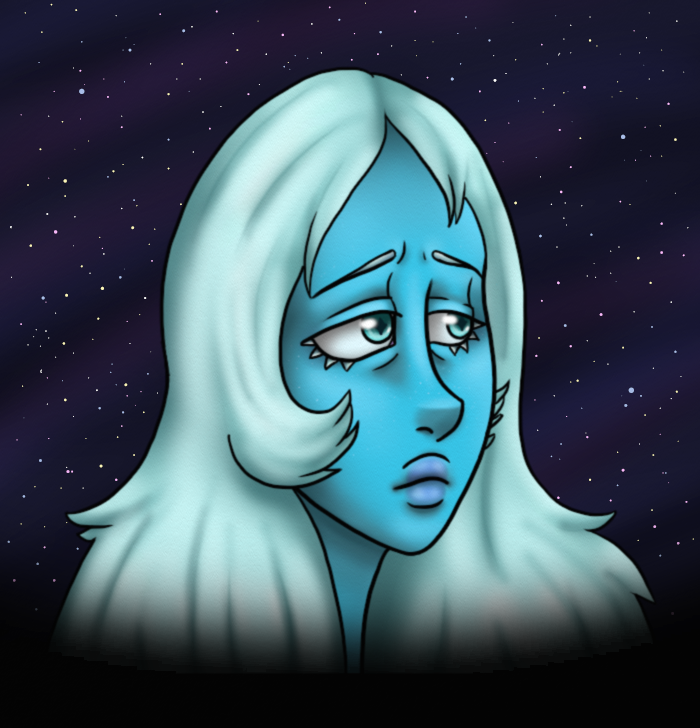 Giant crying woman Steven Universe © Cartoon Network