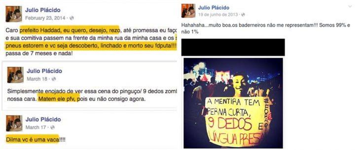 Acusado de fraudar a lei Rouanet protestava contra Lula, Dilma e a corrupção