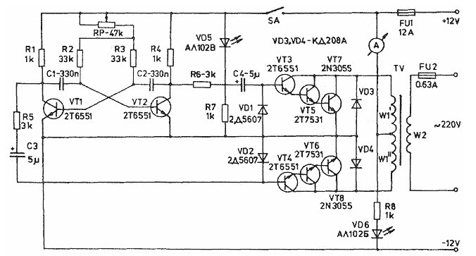 inverter circuit diagram 1000w