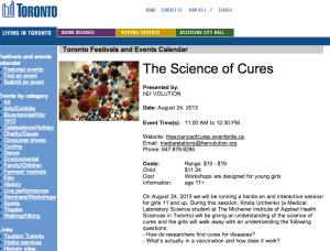 Event on the City of Toronto website!