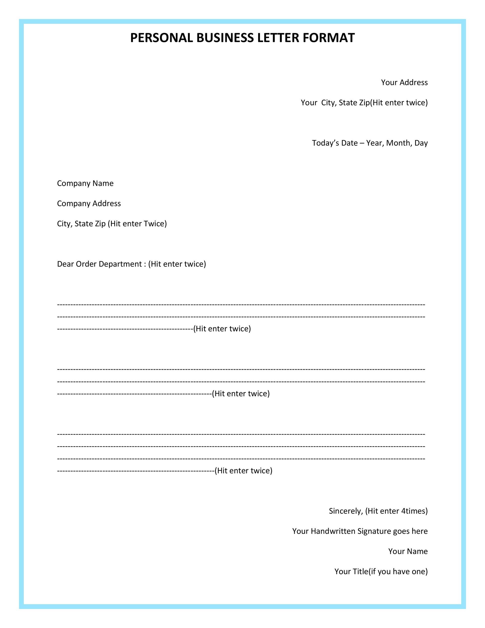 35 Formal \/ Business Letter Format Templates \u0026 Examples  Template Lab