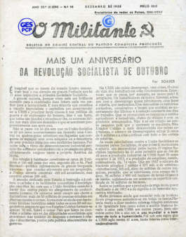 O Militante, Série 3, n.º 98 (DEZ.1958)