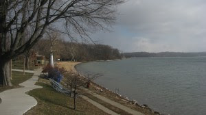 Lake Maxinkuckee beach in Culver