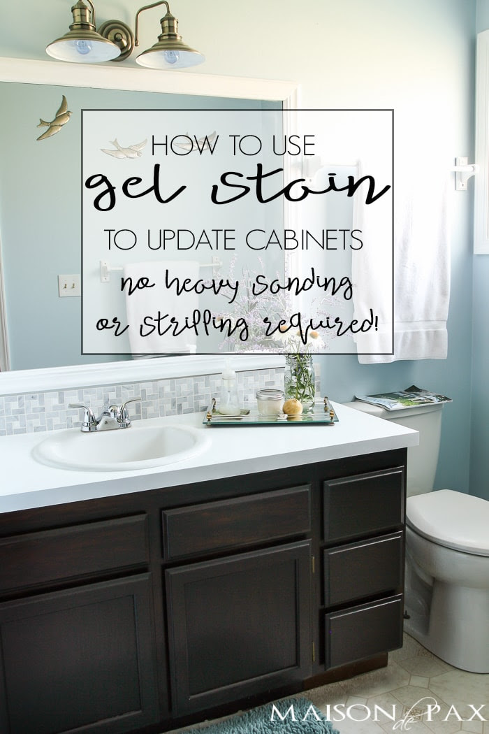 DIY Gel Stain Cabinets (No heavy sanding or stripping ...
