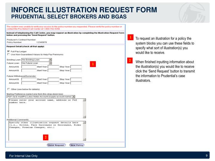 PPT - Inforce Online System Guide Prudential select ...
