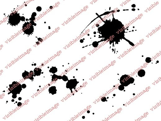 0 Visible Image Ink Splats stamp