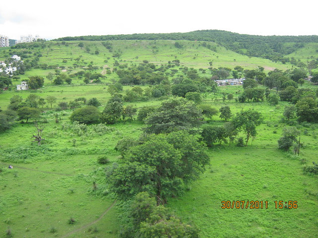 "View from Ready Possession Flat No. J 1001 in Pethkar Projects' ""Balwantpuram Samrajya"", at Shivtirthnagar, Paud Road, Kothrud - Pune 411 038"