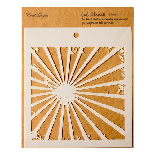 """CrafTangles 6""""x6"""" Stencil - Rays"""