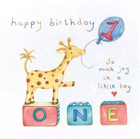 1st Birthday Card Boy   Giraffe 1st Birthday CARD