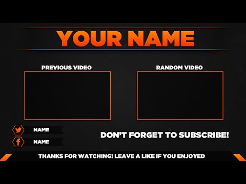 Outro Template PSD   New 2015 - YouTube