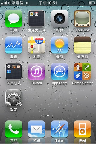 Default iPhone 4 Screen