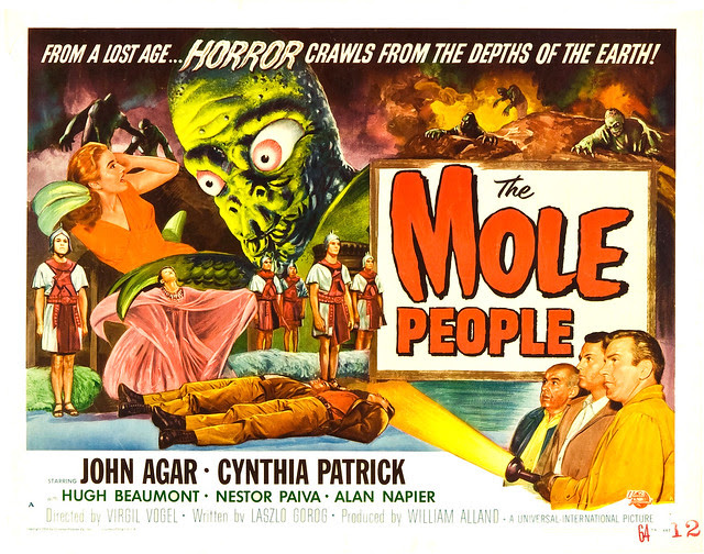 Reynold Brown - The Mole People (Universal International, 1956) half sheet 1