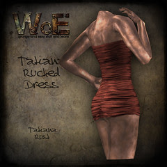 Tatiana Ruched Dress - Rust