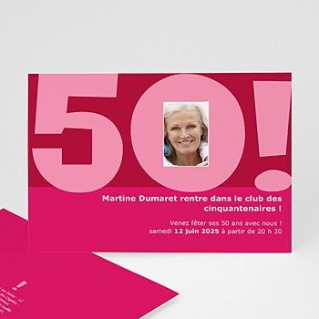 Carte Remerciement Pour Anniversaire 50 Ans | coleteremelly official
