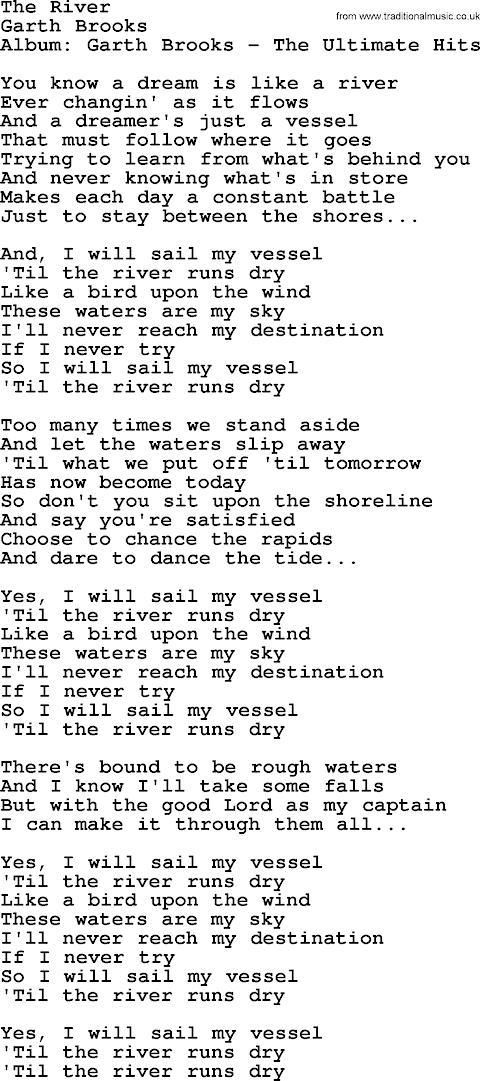 The River Garth Brooks Lyrics