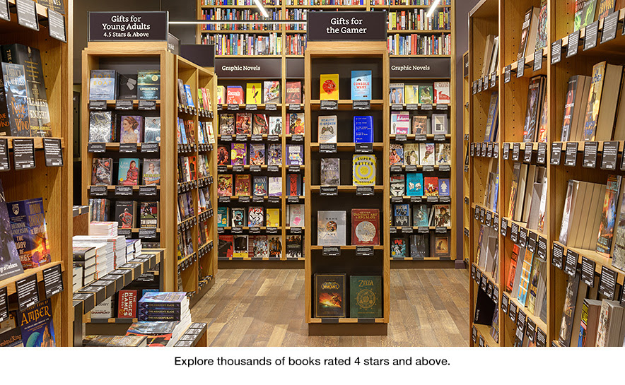 Explore thousands of books rated 4 stars and above at Amazon Books in University Village, Seattle