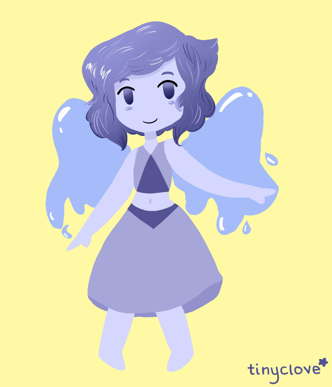 Another Lapis commissioned by @hyperdarkersonic! You can never have too much Lapis lmao